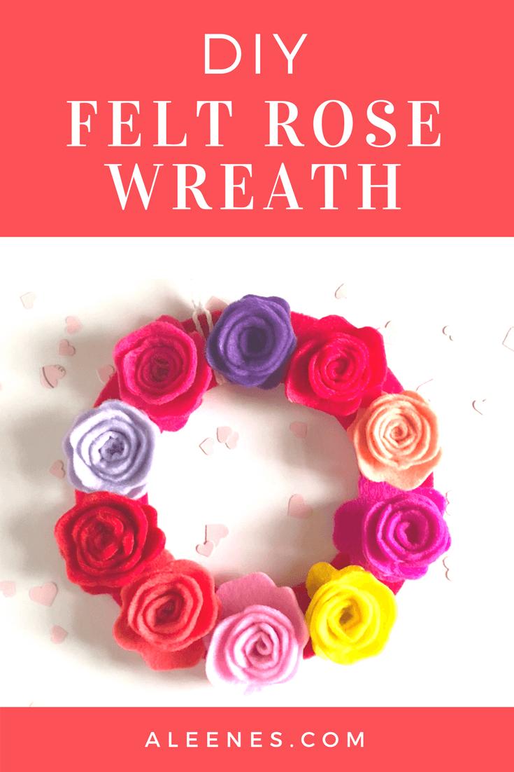 Picture of DIY Felt Rose Wreath
