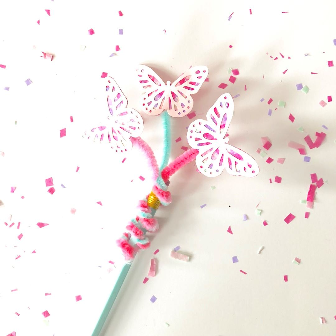 Picture of DIY Butterfly Pencil Topper