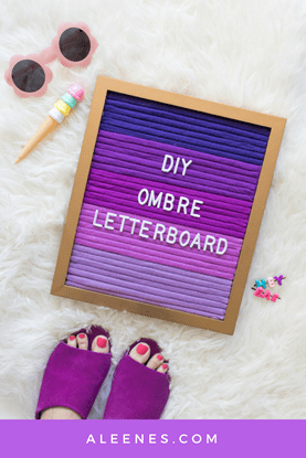 Picture of How to Make an Ombre Letterboard