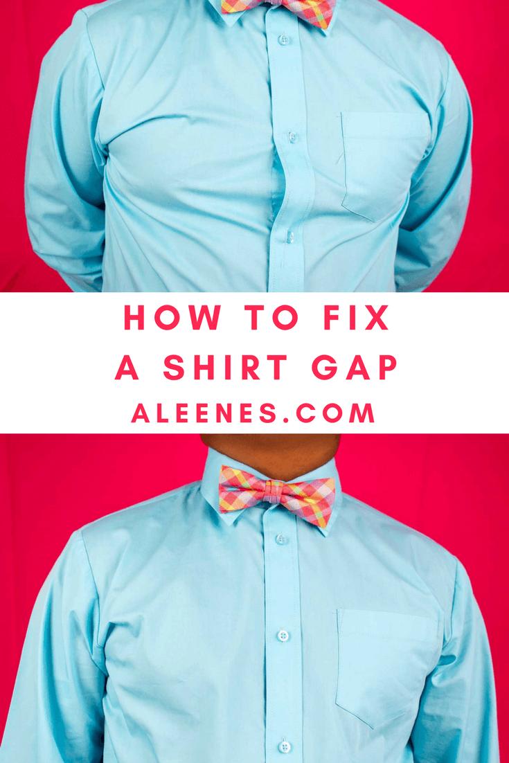 How to Fix a Shirt Gap Step 1