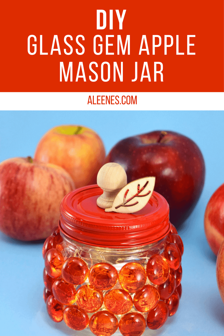 Picture of DIY Glass Gem Apple Mason Jar