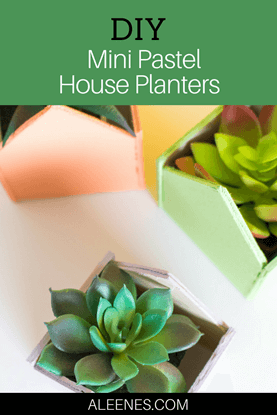 Picture of DIY Mini Pastel House Planters