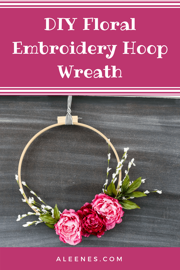 Picture of DIY Floral Embroidery Hoop Wreath
