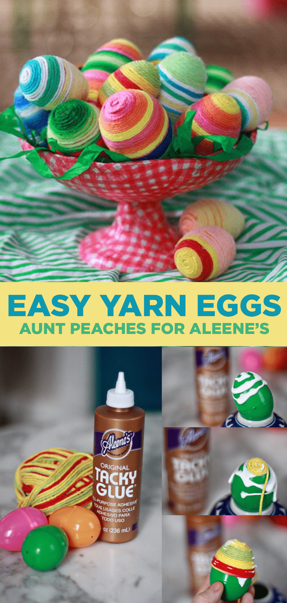 Picture of Make Yarn Wrapped Easter Eggs in Under a Minute