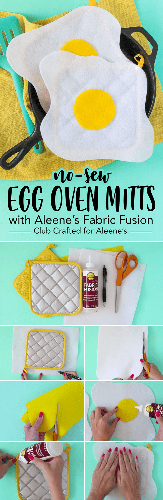 Picture of DIY No-Sew Fried Egg Mitts