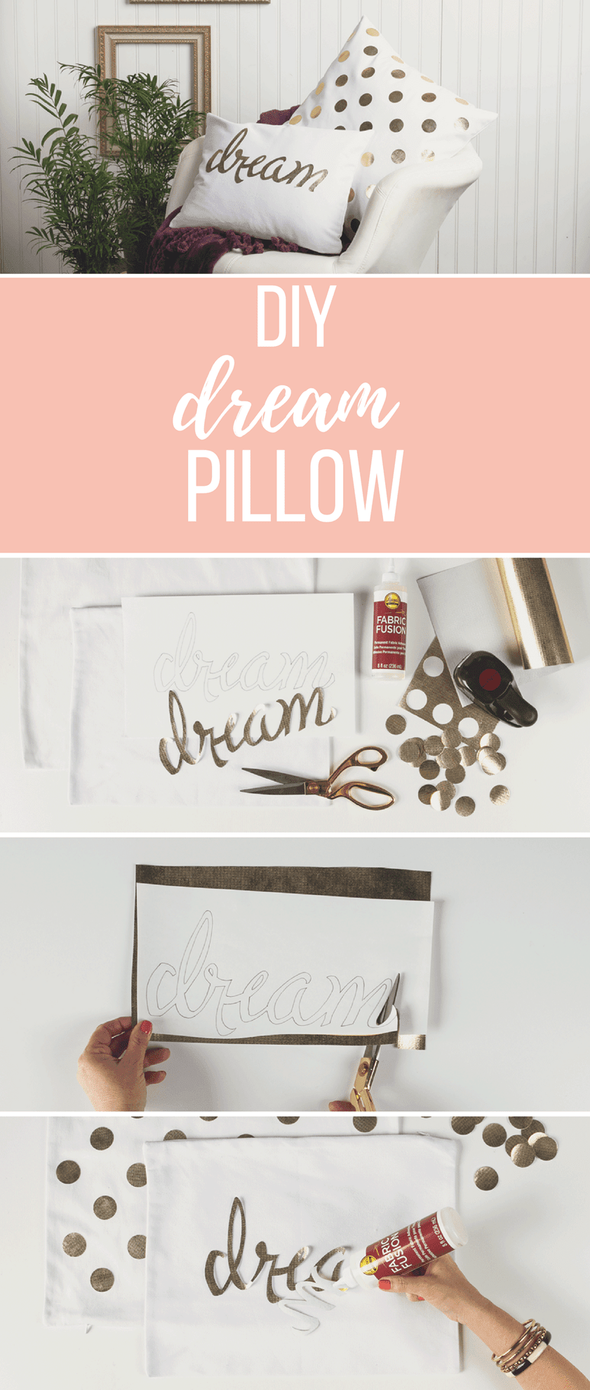 "Picture of DIY ""Dream"" Pillow Set"