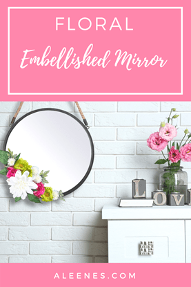 Picture of DIY Floral Embellished Mirror