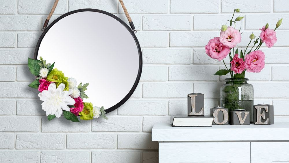 Picture of DIY Floral Embellished Mirror