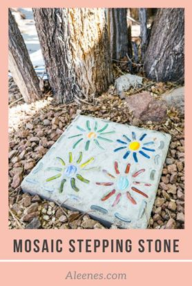 Picture of DIY Mosaic Stepping Stone
