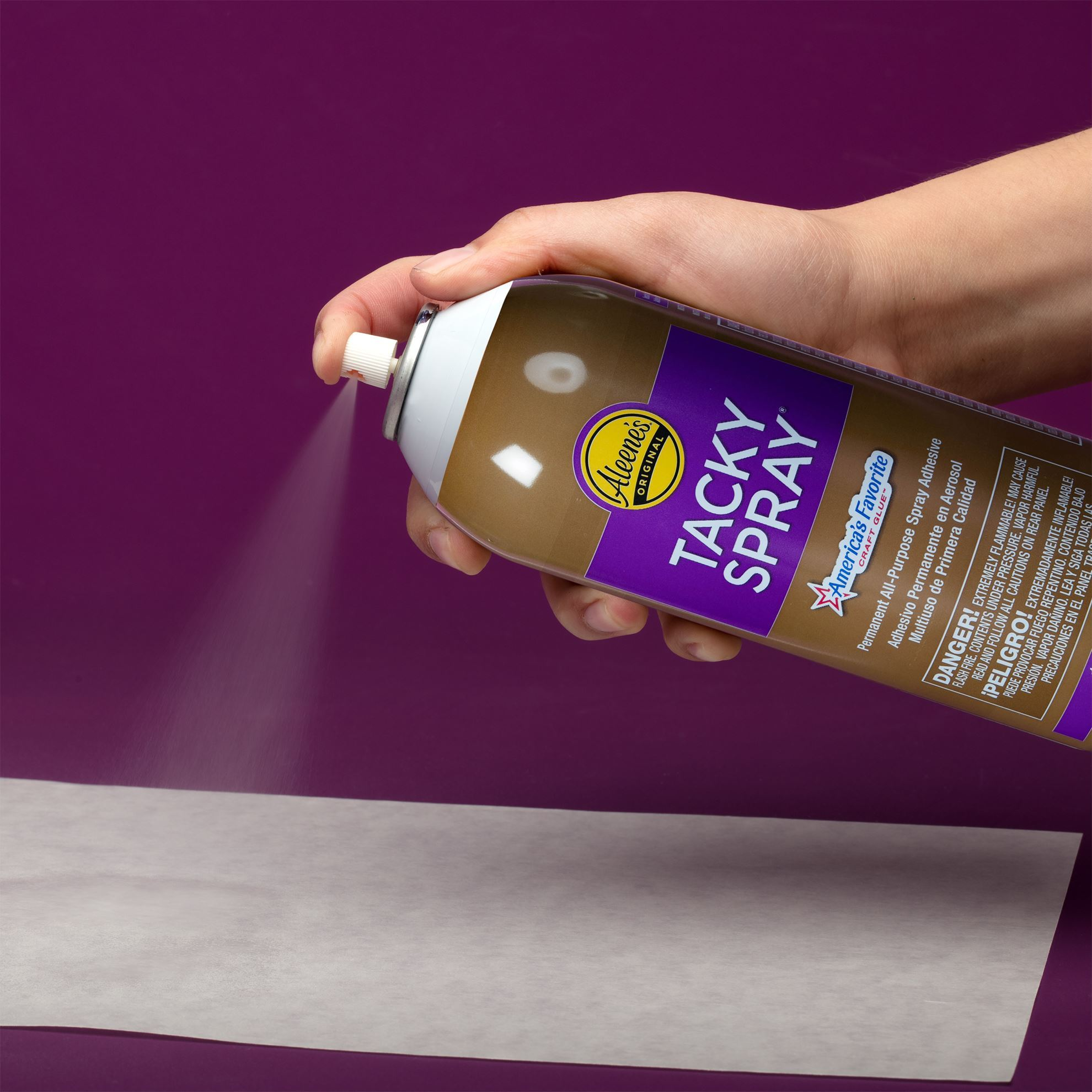 Aleene's® Crystal Clear Tacky Spray Application