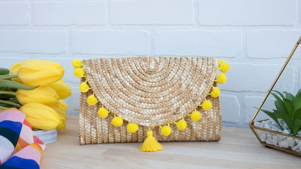 Picture of Tassel and Pom-Pom Embellished Handbags