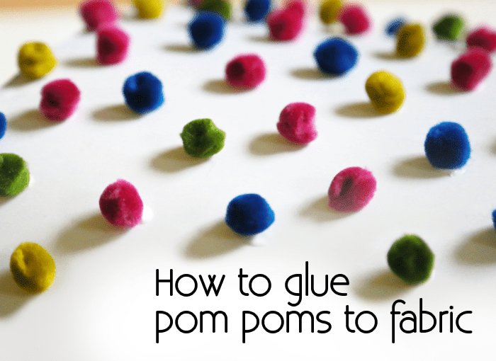 Picture of How to Glue Pom Poms to Fabric: Colorful DIY Lamp