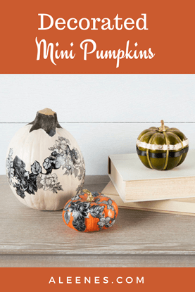 Picture of Decorated Mini Pumpkins