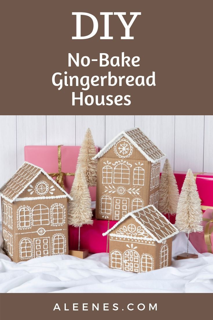 Picture of How to make cardboard gingerbread houses