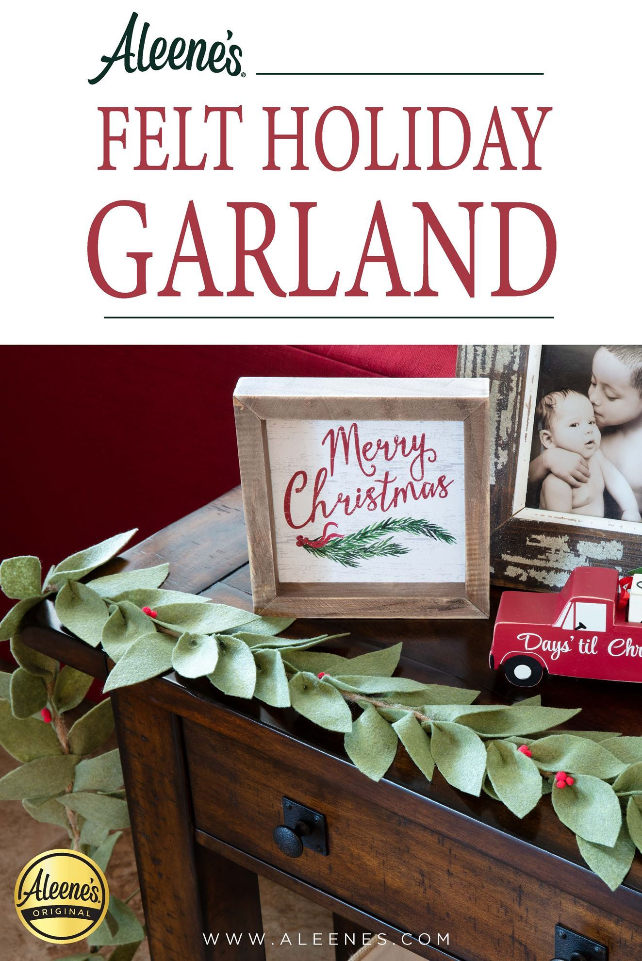 Picture of DIY Easy-to-Make Felt Holiday Garland