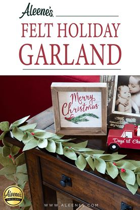 Picture of Easy-to-Make Felt Holiday Garland