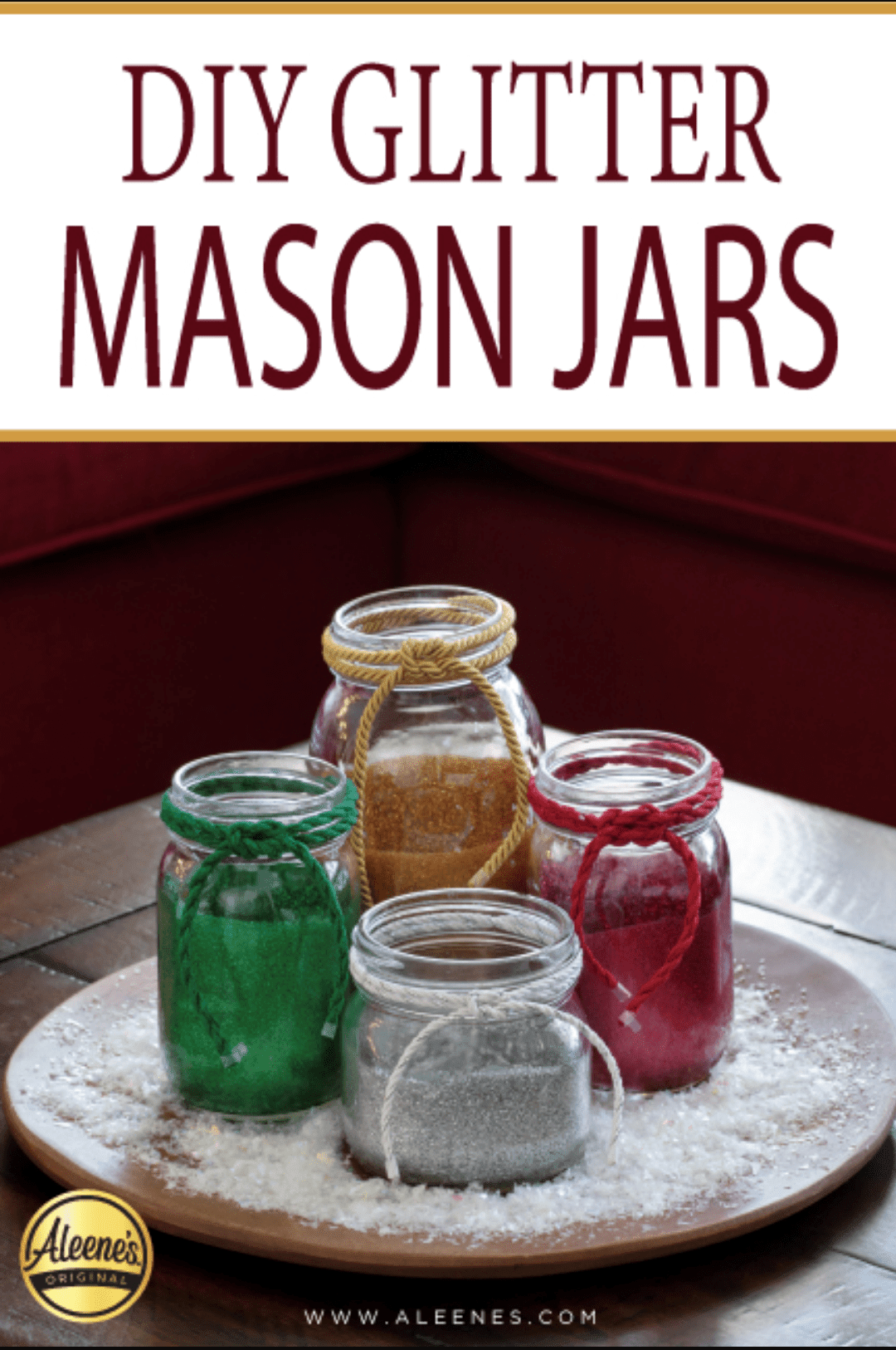 Picture of DIY Glittered Mason Jars