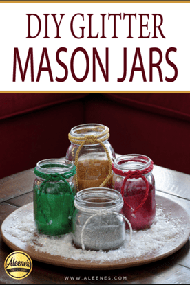 Picture of DIY Glitter Mason Jars