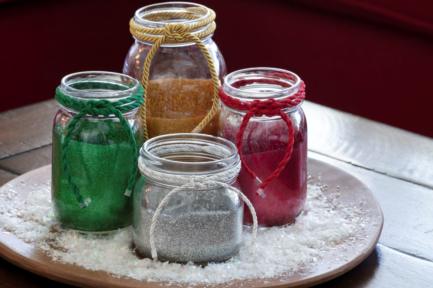 DIY Glittered Mason Jars