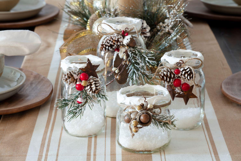 Snow Mason Jars