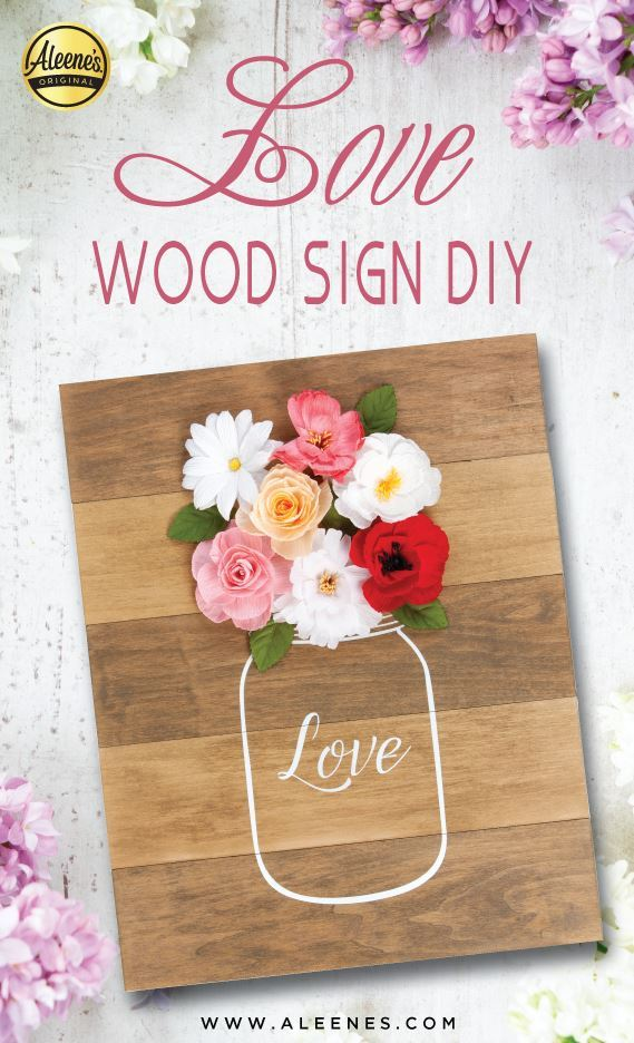 Picture of Aleene's Love Wood Sign DIY