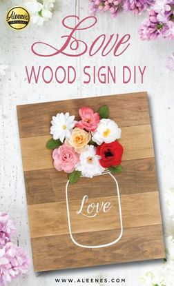 Picture of Love Wood Sign DIY