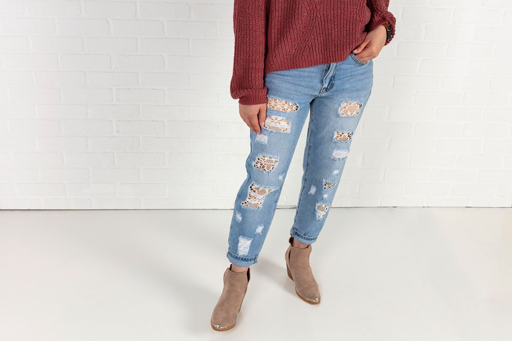 Picture of Lace Jeans DIY