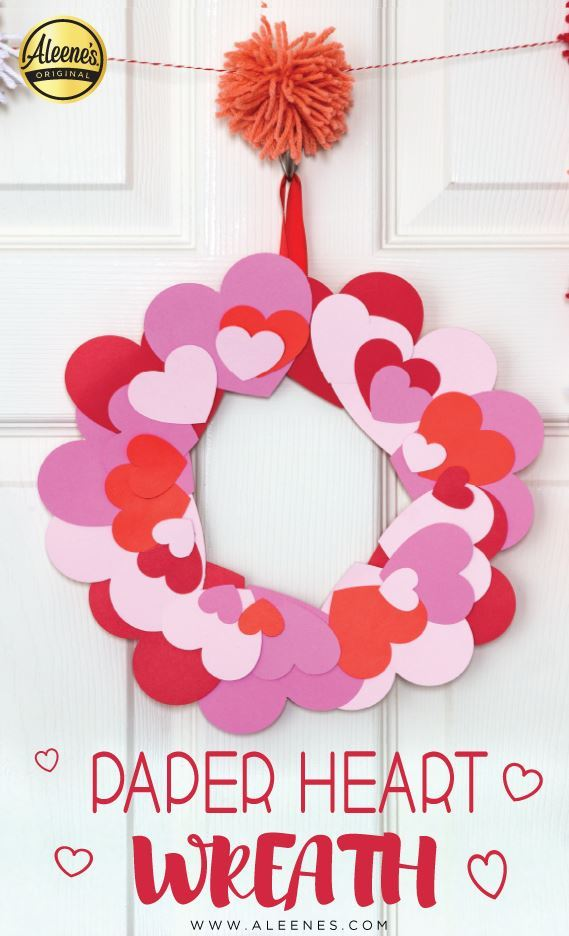 Picture of Aleene's Paper Heart Wreath