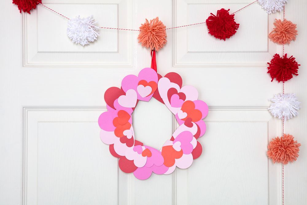 Picture of Paper Heart Wreath