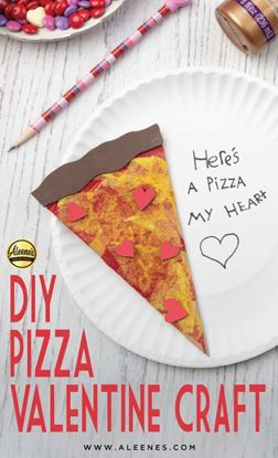Picture of Decoupage Pizza Valentine Craft