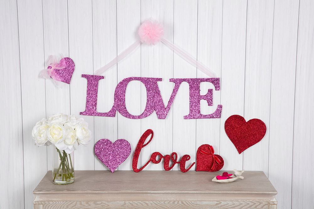 Picture of Handmade Glitter Love Sign