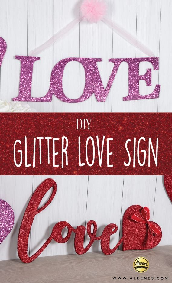Picture of Aleene's Glitter Love Sign