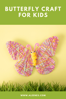 Picture of Yarn and Cardboard Butterfly Craft