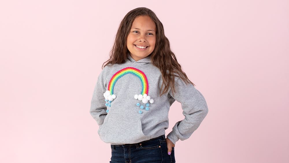 Picture of No-Sew Rainbow Hoodie for Kids