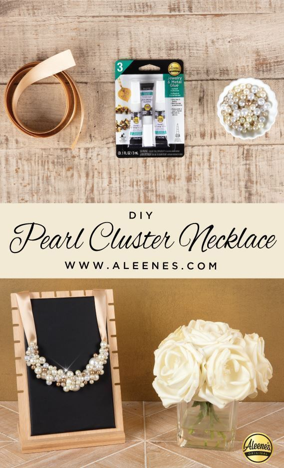 Aleene's DIY Pearl Cluster Necklace