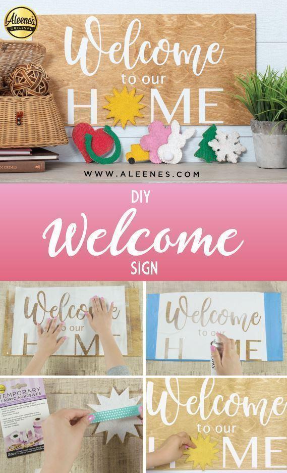 Aleene's DIY Seasonal Welcome Sign