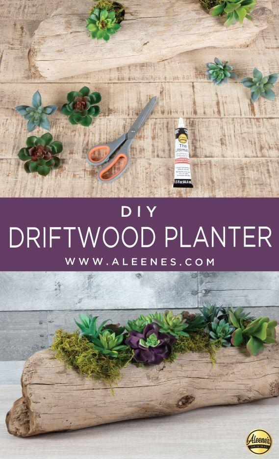 Aleene's Driftwood Succulent Planter
