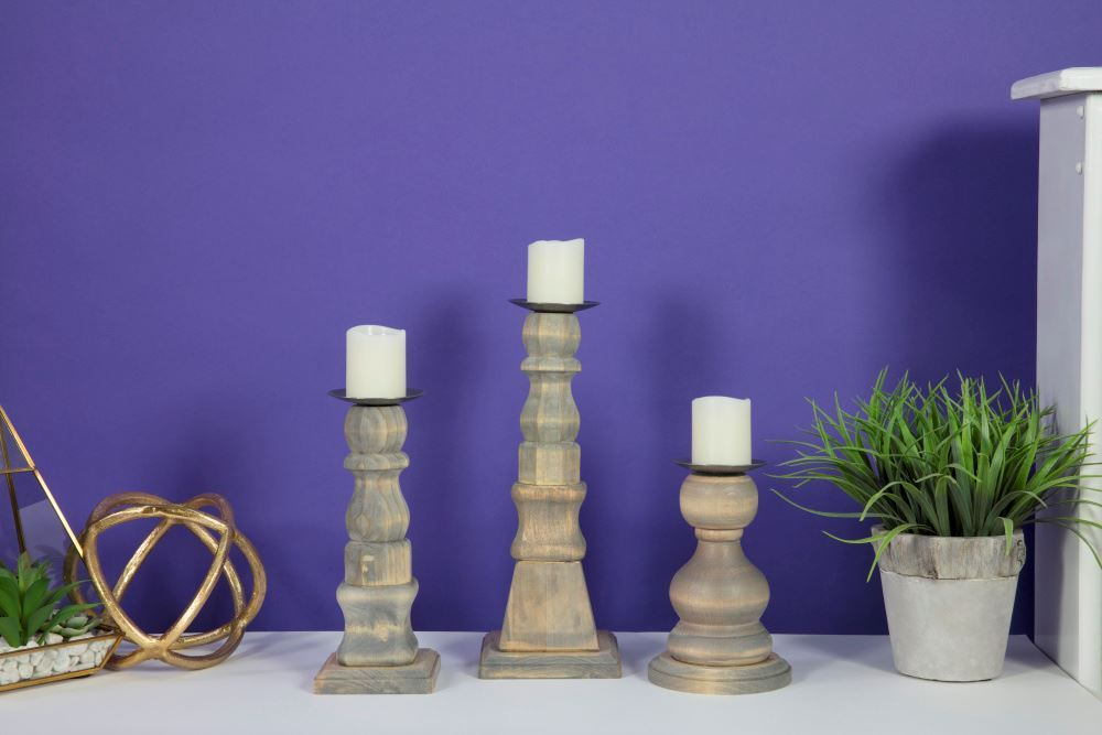 Aleene's Recycled Wood Candle Holders
