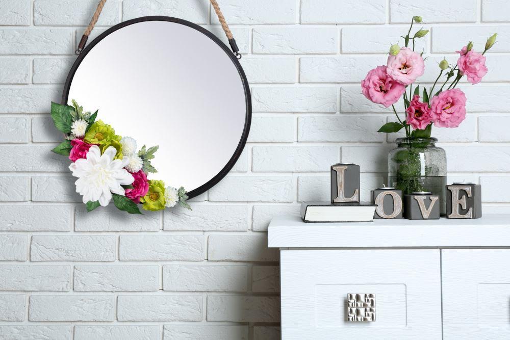 Aleene's Floral Embellished Mirror