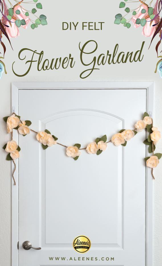 Picture of Aleene's DIY Felt Flower Garland