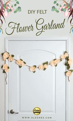 Picture of DIY Felt Flower Garland