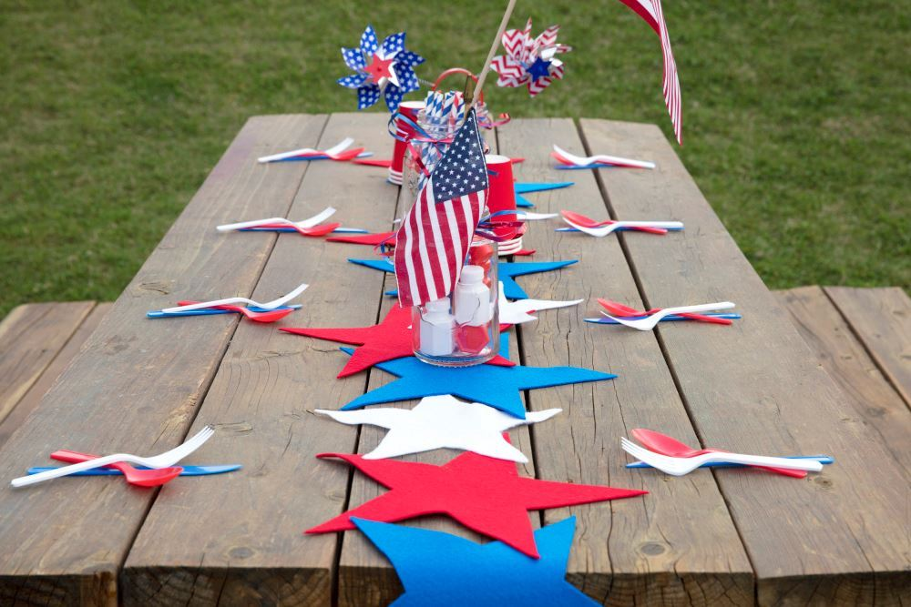 Aleene's Fourth of July Table Runner
