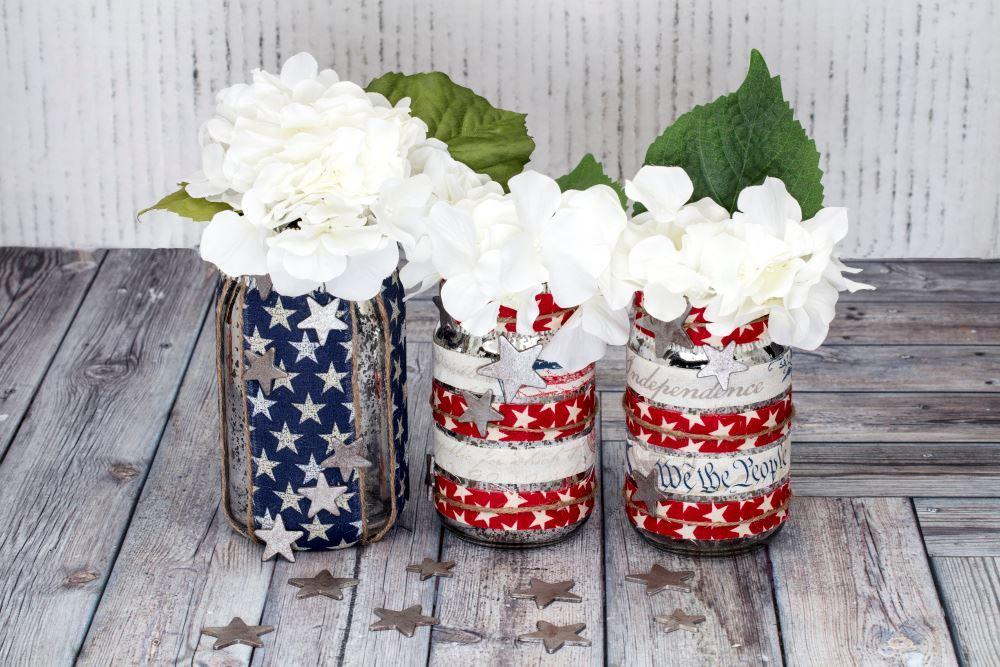 Aleene's Patriotic Mason Jars
