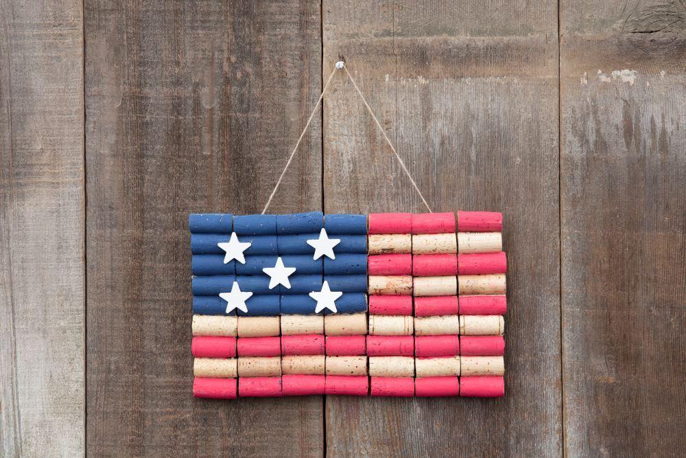Aleene's Cork American Flag
