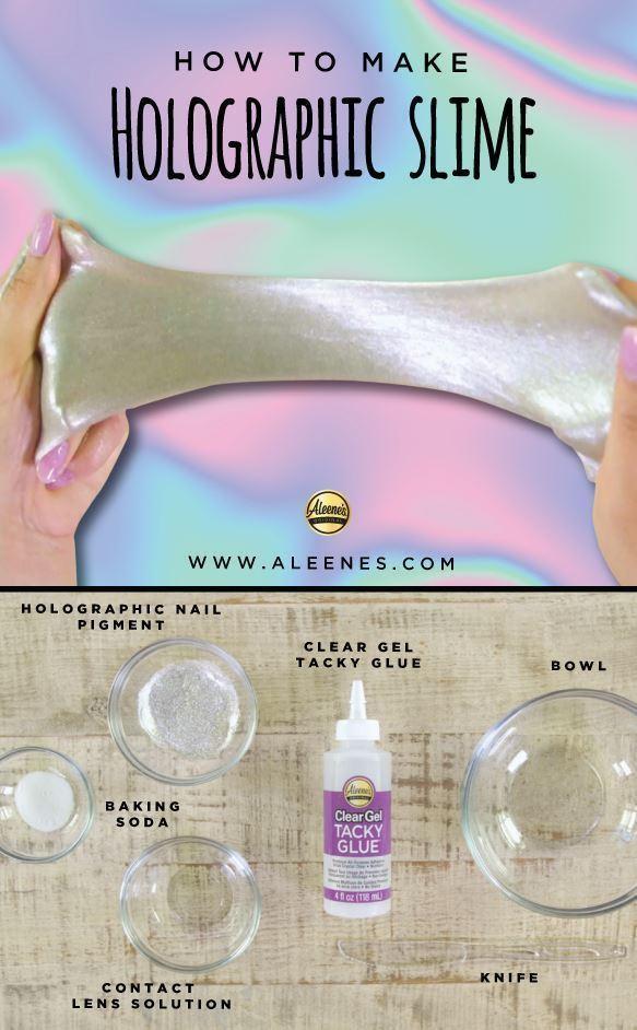 Aleene's Holographic Slime Recipe