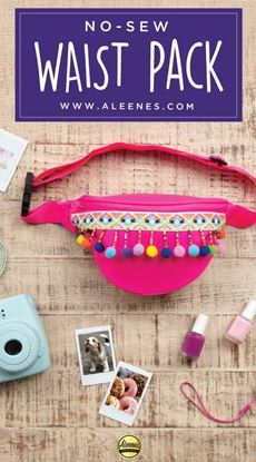 Picture of No-Sew Pompom Waist Pack
