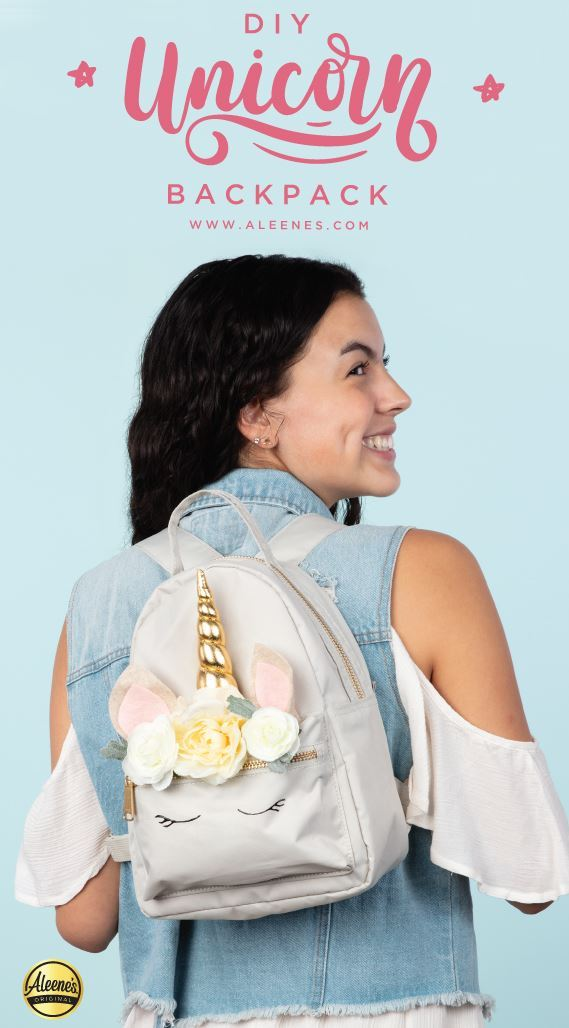 Picture of Aleene's Unicorn Backpack DIY