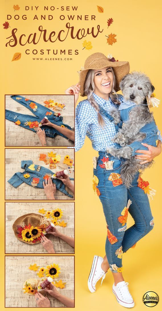 Aleene's DIY Matching Dog & Owner Scarecrow Costumes