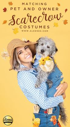 Picture of Matching Dog & Owner DIY Scarecrow Costumes