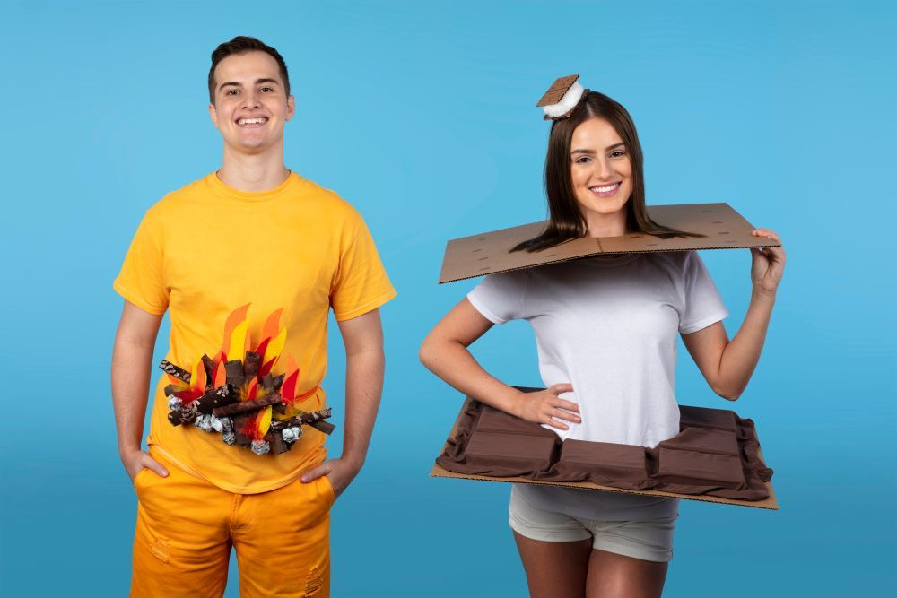 Picture of DIY S'mores Couple's Costume